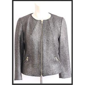 zara Charcoal Full Zip Lined Blazer Jacket